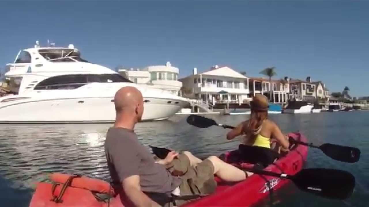 Mel Potts And Lonnie Kayaking Huntington Harbor In Beach