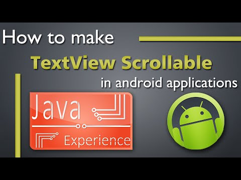 How to make TextView scrollable in Android applications