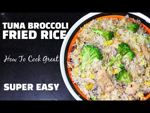 Tuna Broccoli Fried Rice - SUPER EASY FRIED RICE