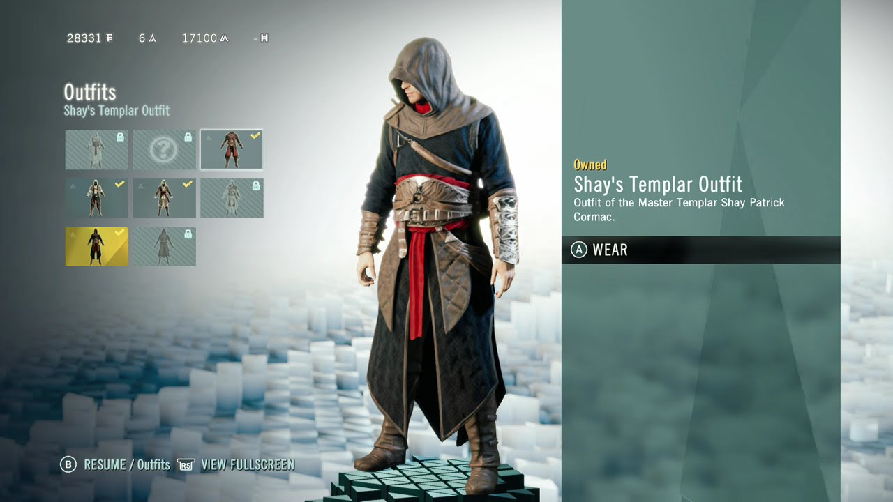 Assassin S Creed Unity Shay S Templar Outfit Location Youtube