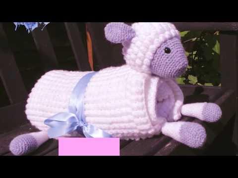 9e63bda33110 3 in 1 Cuddly Sheep Toy Baby Pram Blanket Crochet Pattern - YouTube