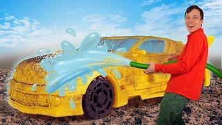 Роботы Трансформеры игры онлайн – Бамблби: ремонт и прокачка Автобота! - Новый сборник видео машинки