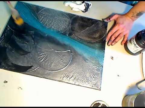 Pittura materica tecnica con gesso acrilico e sfregazzo for Quadri moderni a rilievo