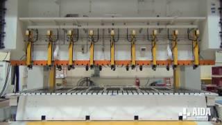 AIDA DSF-S4-15000, 1,500 Ton Servo Transfer Press