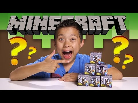 MINECRAFT Minifigure MYSTERY BOXES (Stone Series 2) Plus Stampy's Wonder Quest!