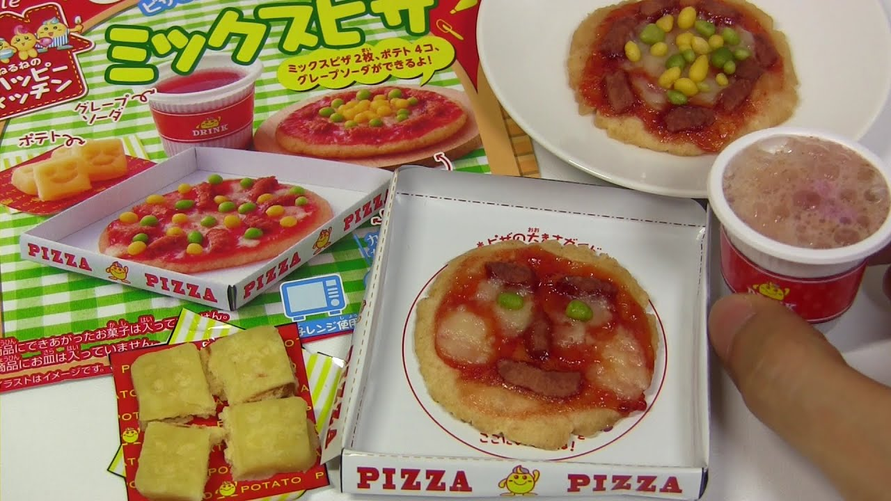 "Kracie Happy Kitchen ""Mix Pizza"" DIY Candy"