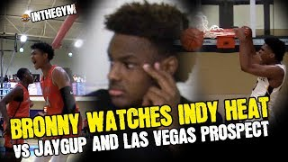 Bronny Watches Indy Heat Take Down EXPLOSIVE Josh Christopher (JAYGUP) and LAS VEGAS ELITE