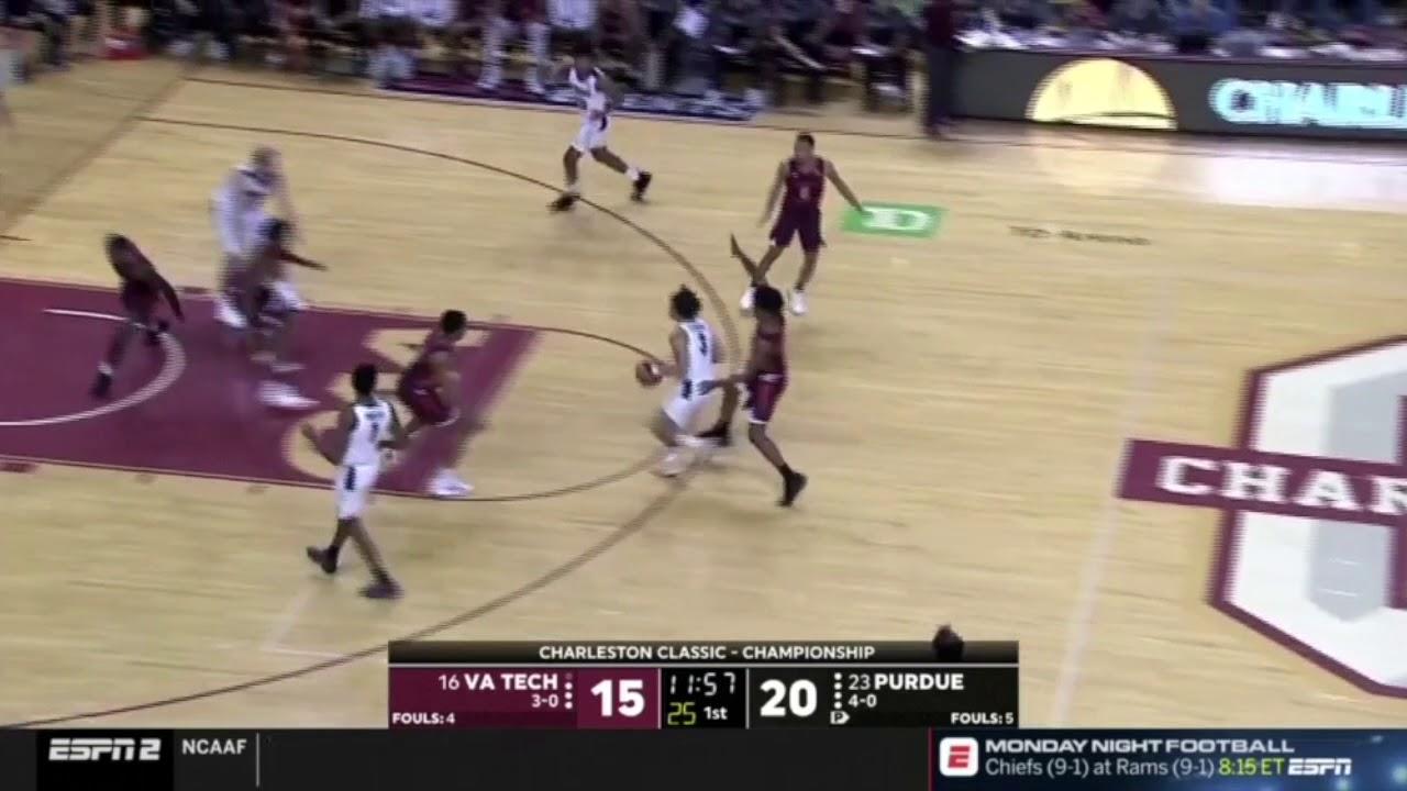 Carsen Edwards Vs Virginia Tech 26 Pts 7 Ast 3 Rebs 11 18 18