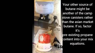 Refilling Butane Camp Stove Canisters: Propane/Butane Winter Mix