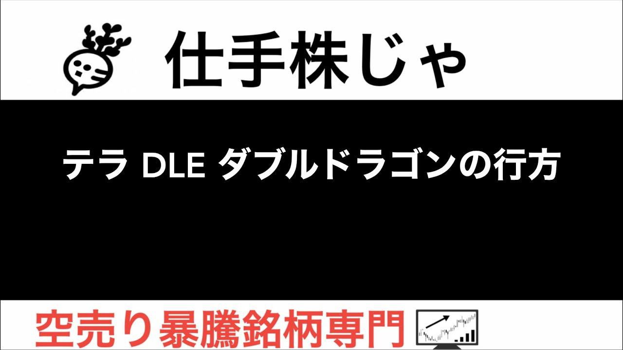 テラ DLE ダブルドラゴンの行方【仕手株じゃ】空売り専門暴騰暴落株取引ニュース番組