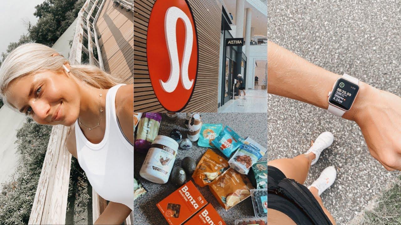 VLOG: my healthy lifestyle essentials, lululemon haul + groceries