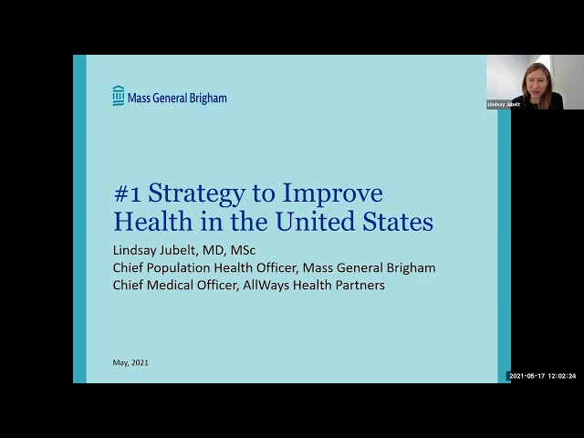 #1 Strategy to Improve Health in the United States