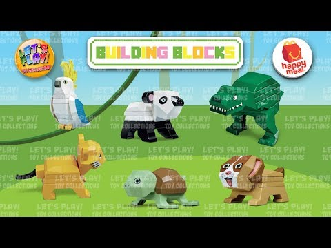 2018 Building Blocks McDonald's Happy Meal Complete Set Of 6 Toys