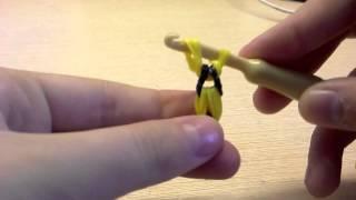 Как сделать осу (пчелу) из резинок на крючке
