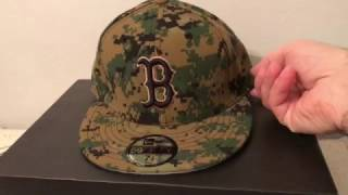 New Era Boston Red Sox fitted Cap Hat Camo Memorial Day