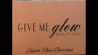Give Me Glow Cosmetics - Sepia Rose Garden - Eye Shadows and Lippie's with swatches