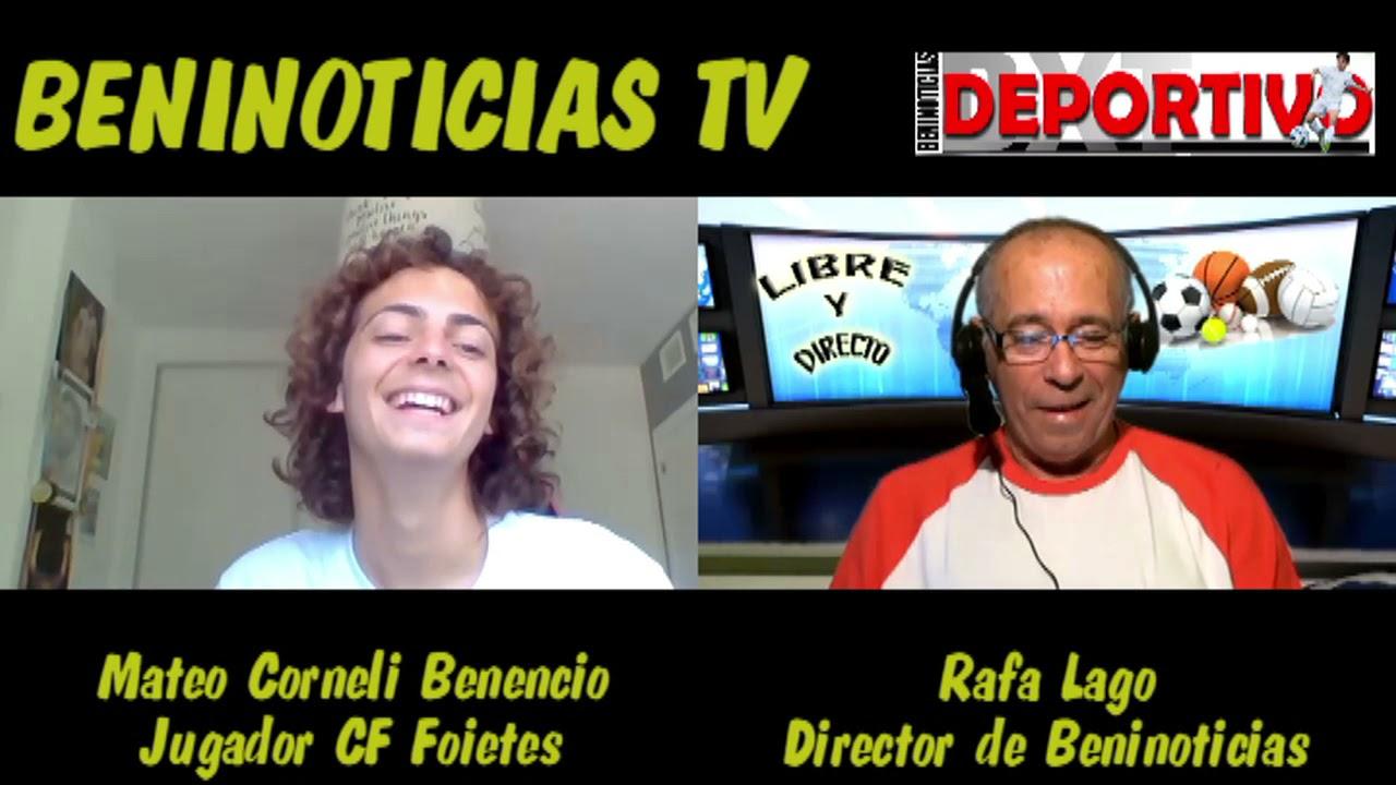 Video entrevista con Mateo Corneli Benencio, jugador del CF Foietes Benidorm