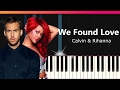 Calvin Harris We Found Love Ft Rihanna EASY Piano Tutorial Chords How To Play Cover mp3