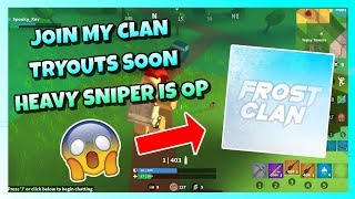JOIN MY CLAN 🏆 TRYOUTS SOON 😱 HEAVY SNIPER EST OP 🔥 ROBLOX ISLAND ROYALE 🌴