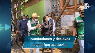 La lluvia del martes por la noche provocó severas afectaciones en los pueblos de San Miguel Topilejo y San Mateo Xalpa