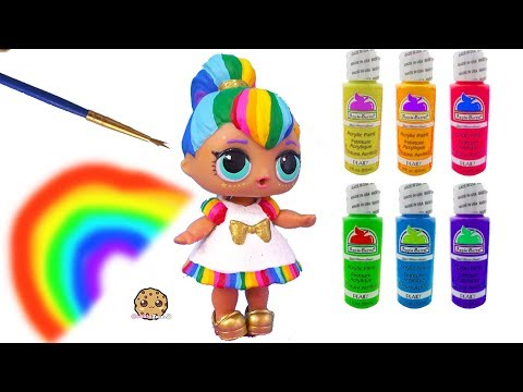 Rainbow BB DIY LOL Surprise Custom Makeover Painting Video -