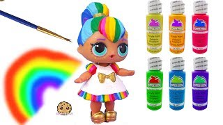 Rainbow BB DIY LOL Surprise Custom Makeover Painting Video - Do It Yourself Craft