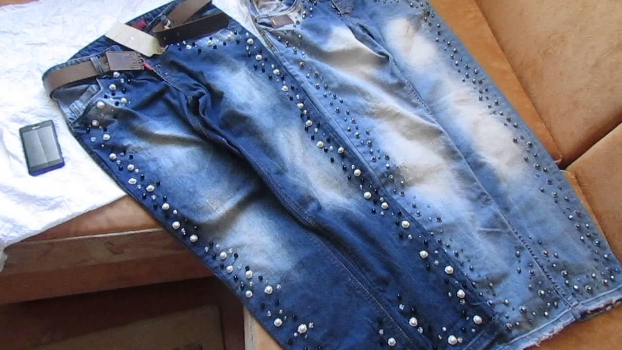 Как сделать вышивку на джинсе