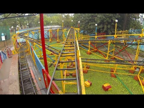 Not-So-Wacky Knock Off Wacky Worm Roller Coaster POV in India Nicco Park