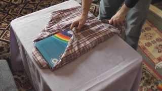Cum impaturesti o camasa. Metoda de aranjare cu cartea