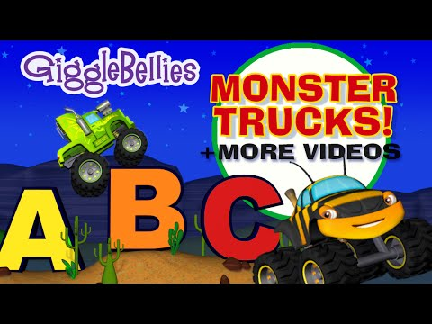 Monster Truck ABCs  1 Hour  GiggleBellies