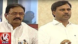 Palla Rajeshwar Reddy Vs Shabbir Ali   War of Words at T Legislative Council   V6 News