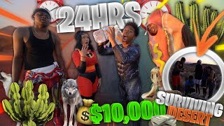SURVIVING THE DESERT FOR 24 HOURS IN HALLOWEEN COSTUMES! (last to leave gets $10,000)
