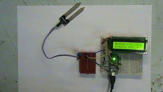 Обзор и тест датчика влажности почвы на микросхеме LM393
