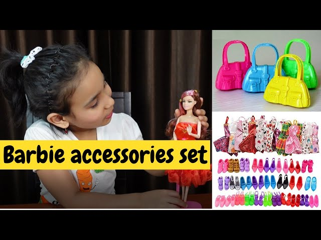Barbie accessories set Unboxing  / | #LearnWithPari #Aadyansh