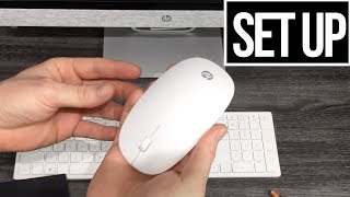 HP Mouse & Keyboard Set Up | Sync with HP Pavilion All-in-One 24-r159c, i5-8400T