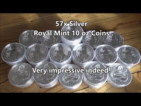 570 oz of 10 oz Silver Coins - The Royal Mint continues to impress!