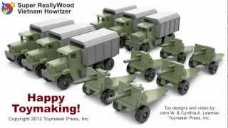 Wood Toy Plans - Toy Howitzer Cannon And Truck