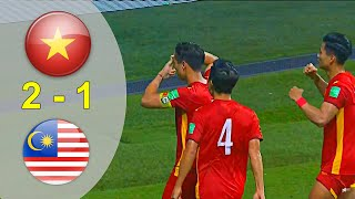 Full Highlight Việt Nam vs Malaysia 2 - 1   Lượt Về Vòng Loại World Cup 2022 (11/06/2021)