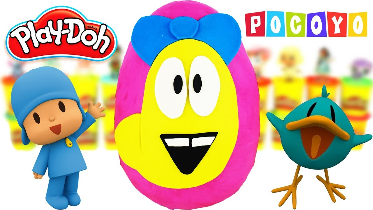 Huevo Sorpresa Gigante de Oruga Valentina POCOYO Plastilina Play Doh en Español Dibujos Animados