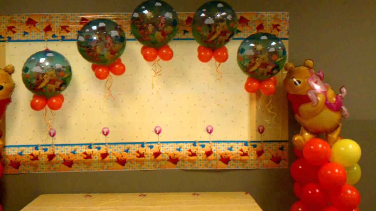 decoraciones con globos winnie the pooh youtube