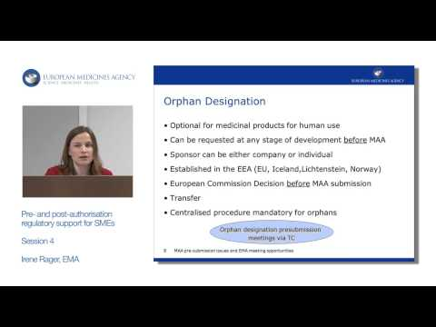 MAA pre-submission issues and EMA meeting opportunities
