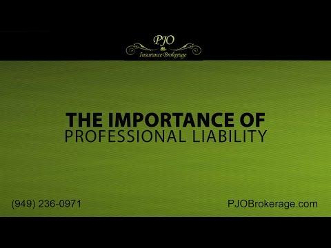 The Importance of California Professional Liability Insurance | PJO Insurance Brokerage