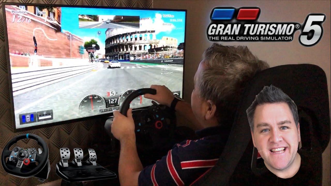 5baa2436c3a Let's Race - Gran Turismo 5 - Rome - PS3 - Logitech G29 Racing Wheel &  Pedals - 1080p - Arcade Racer