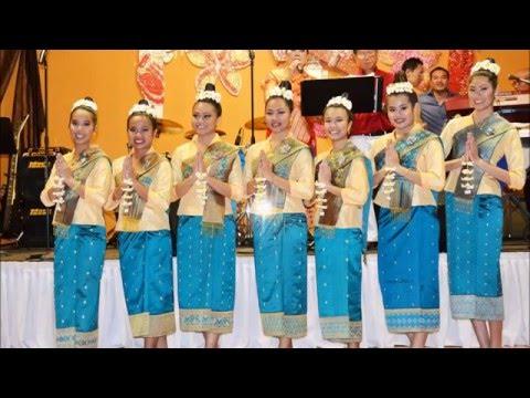 ຈຳປາເມືອງລາວ. Lao Traditional Dance Champa Muang Laos.