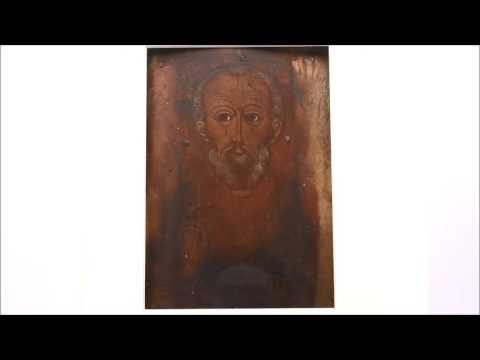 Купить старинную икону в Москве - Икона старинная Пресвятой .