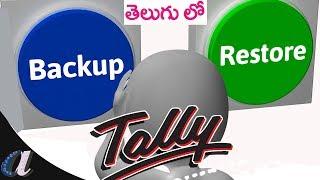 Backup & Restore In Tally ERP -9  || GST Version || computersadda.com