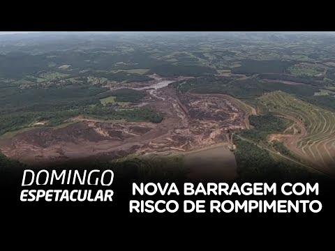 Equipe da Record TV sobrevoa barragem que corre risco de romper