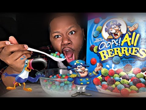 Fruit Loops And Captain Crunch Cereal Breakfast Mukbang Cereal Eating Show