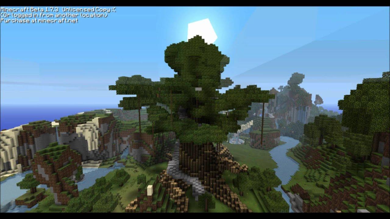 Minecraft Giant Elven Tree Timelapse HD YouTube