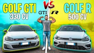 SFIDO UNA GOLF R DA 500 CV CON LA MIA GTI DA 330 CV